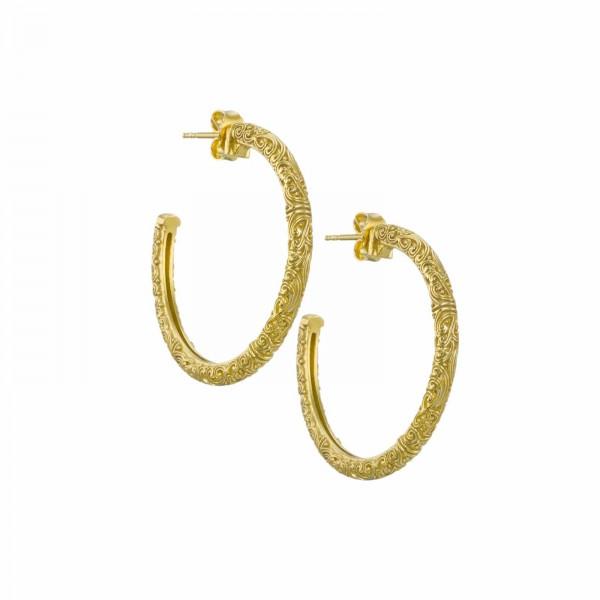 Χειροποίητα σκουλαρίκια κρίκοι ασήμι 925