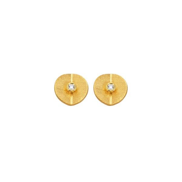 Handmade Stud Earrings 14K Yellow Gold KRI-S/E287