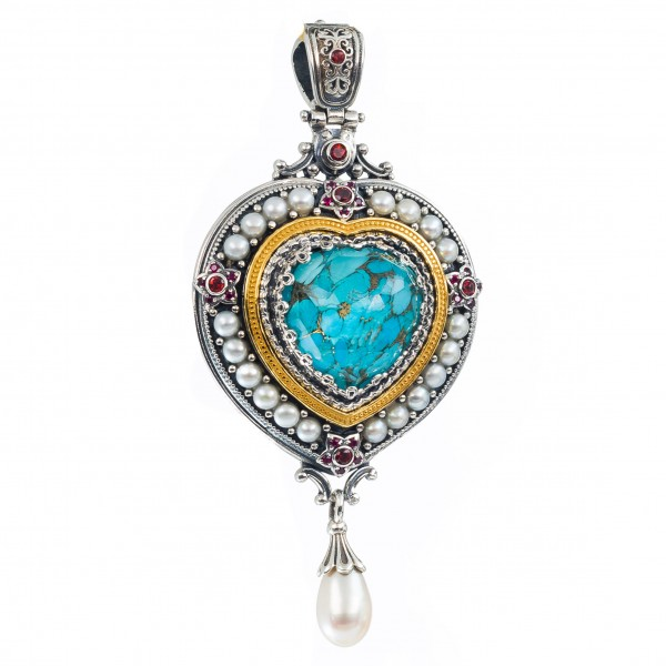 Imperial pendant in Sterling Silver with Gold Plated Parts GER-P3290