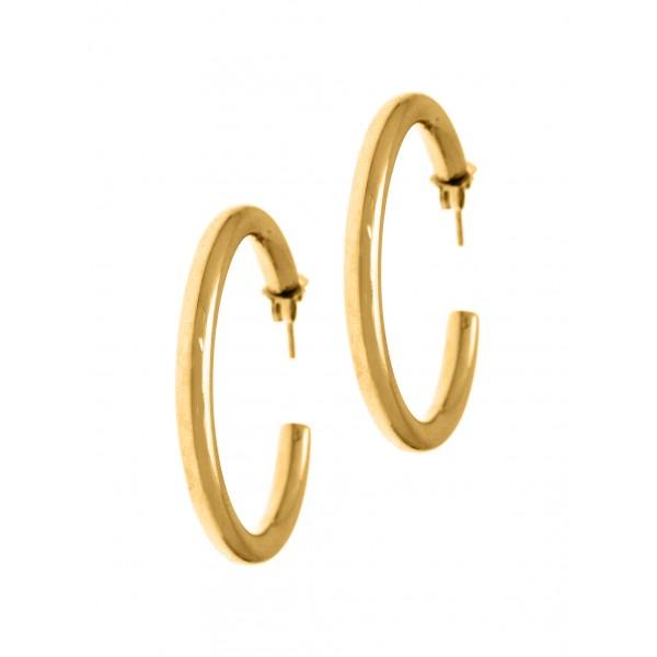 Σκουλαρίκια κρίκοι ασήμι 925 GRE-50398