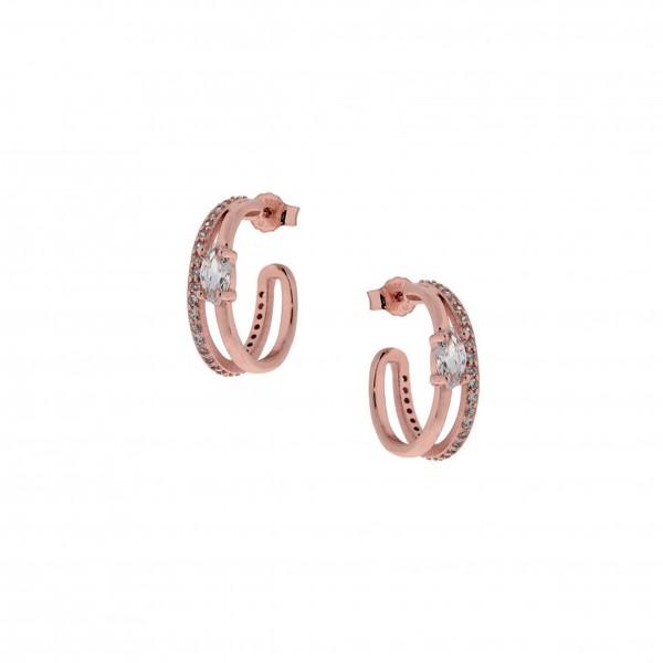 Σκουλαρίκια καρφωτοί κρίκοι ασήμι 925 PS/8A-SC191