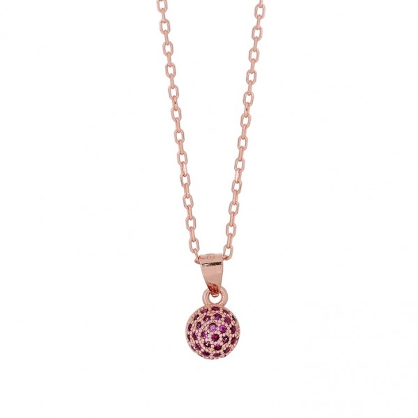 Necklace in silver 925 with zircon PS/8A-KD259