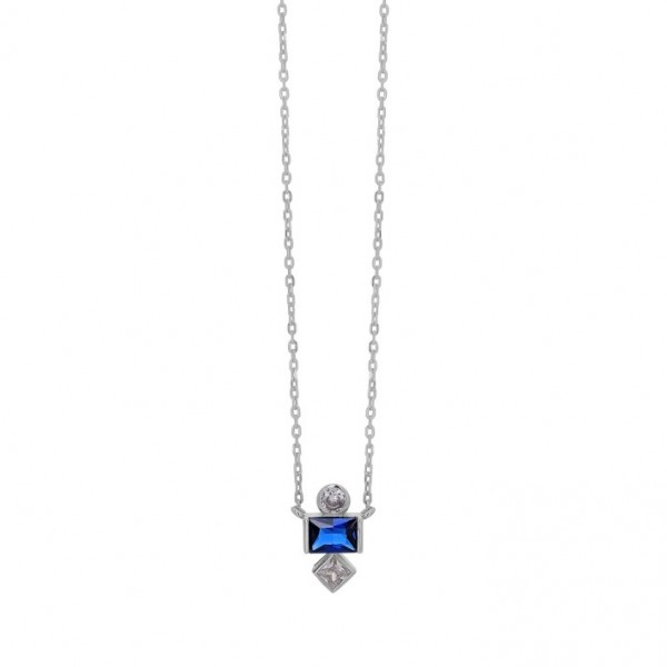 Necklace in silver 925 with zircon PS/8A-KD264