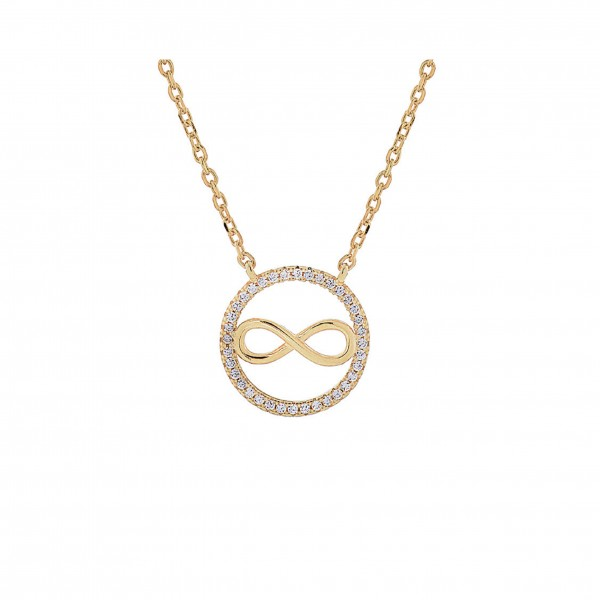 Infinity necklace in silver 925 with zircon PS/9B-KD046