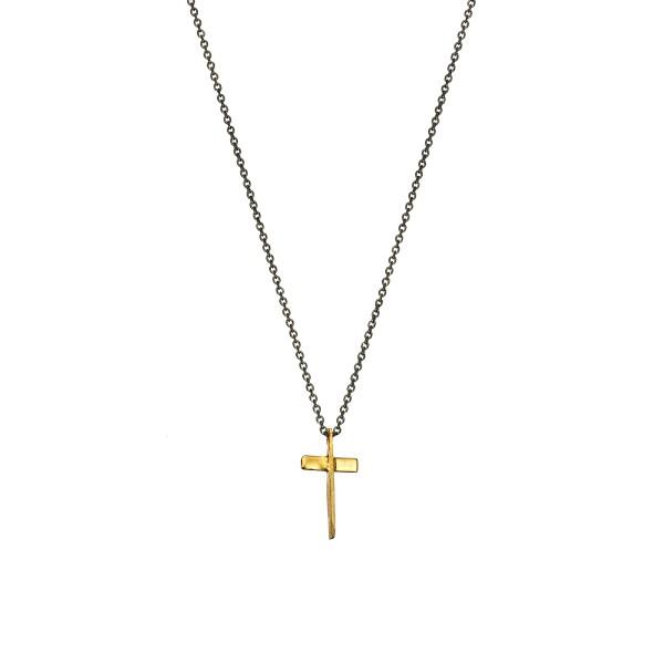 Χειροποίητος σταυρός από χρυσό K14 KRI-S7
