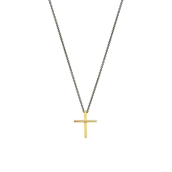 Χειροποίητος σταυρός από χρυσό K14 KRI-S56