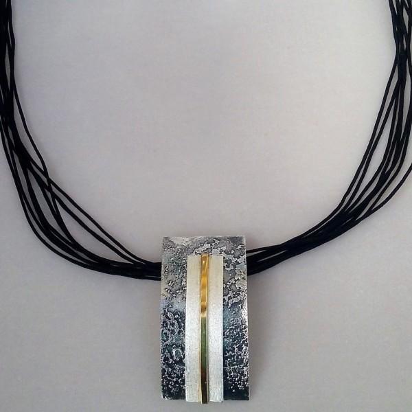 Κολιέ ασήμι 925 χειροποίητο επιχρυσωμένο σφυρήλατο