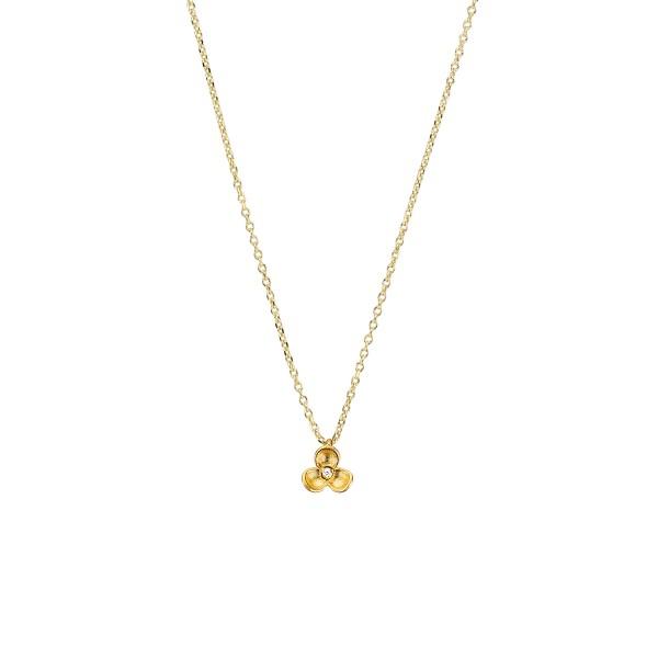 Χειροποίητο Μενταγιόν Λουλούδι Χρυσό Κ14 με Ζιργκόν KRI-M34