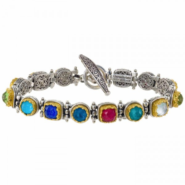 Iris bracelet in Sterling silver with Gold plated parts GER-P6483