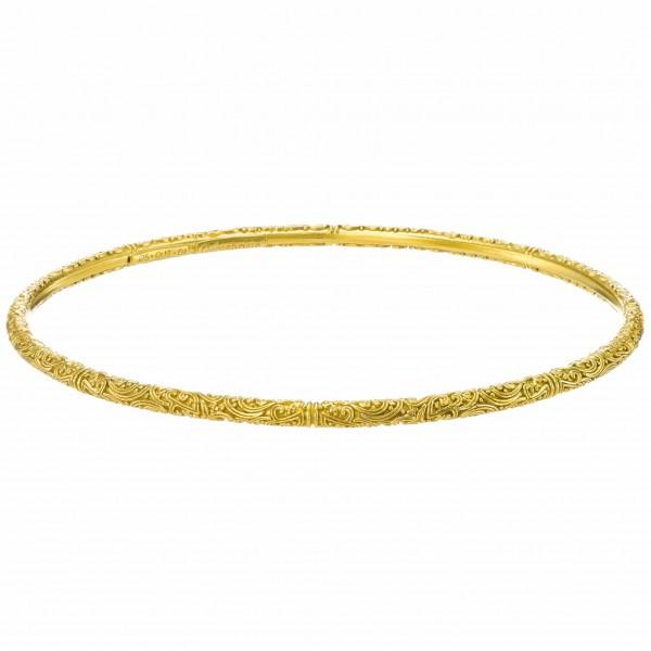 Eva bangle bracelet in Gold plated sterling silver GER-P6496