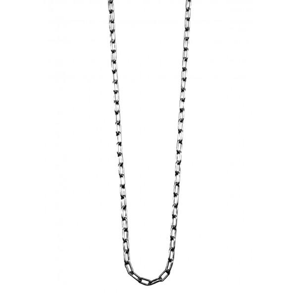 Κολιέ ασήμι 925 με μαύρη επιπλατίνωση GRE-59520
