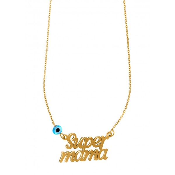 Mother necklace in silver 925 gold plated GRE-58792
