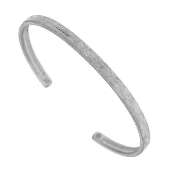 Ανδρικό βραχιόλι χειροπέδα ασήμι 925 επιροδιωμένο GRE-47658