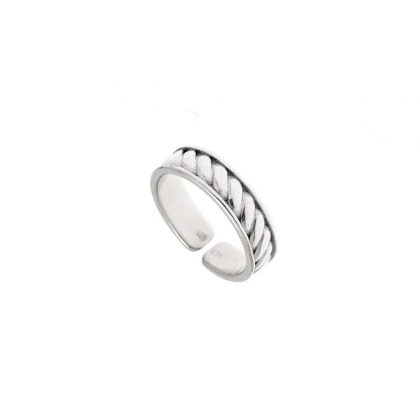 Ανδρικό δαχτυλίδι ασήμι 925 επιπλατινωμένο GRE-30673