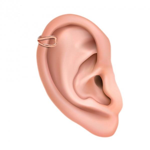 Ear cuff μονό ασήμι 925