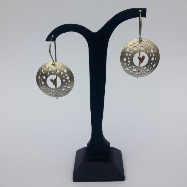 Σκουλαρίκια κρεμαστά ασήμι 925 χειροποίητα επιχρυσωμένα