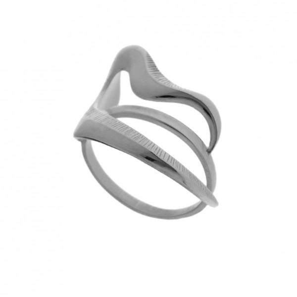 Δαχτυλίδι ασήμι 925 επιπλατινωμένο GRE-60441