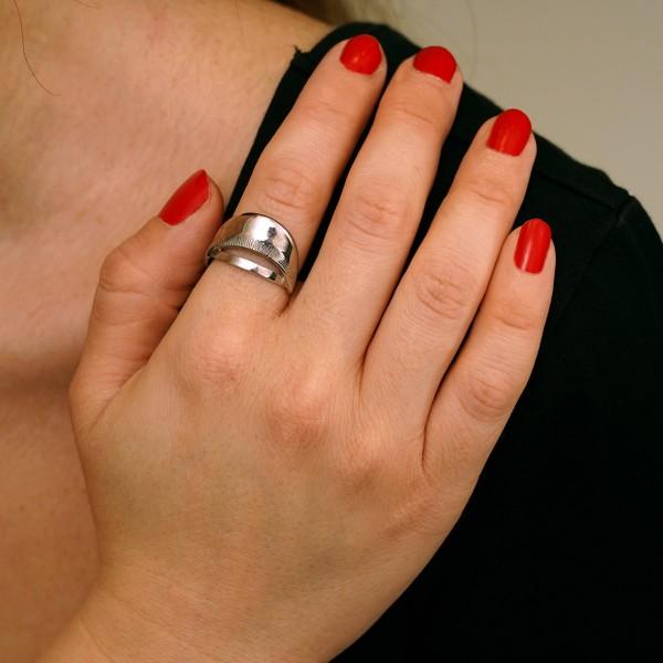 Δαχτυλίδι ασήμι 925 επιπλατινωμένο GRE-60443