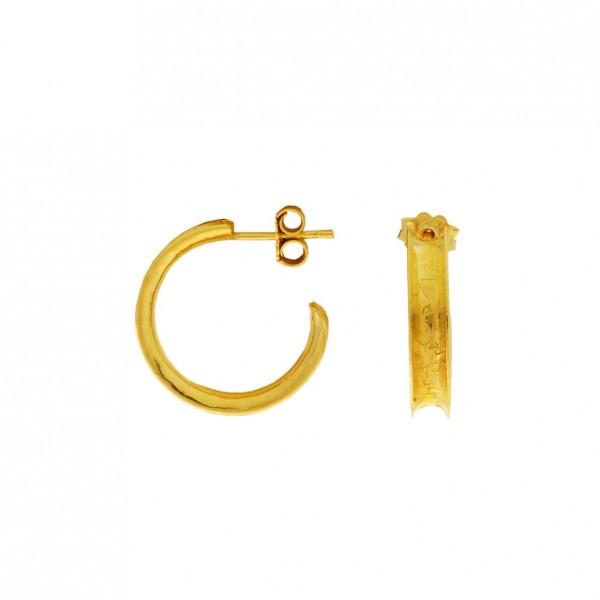 Σκουλαρίκια κρίκοι ασήμι 925 επιχρυσωμένο GRE-60404