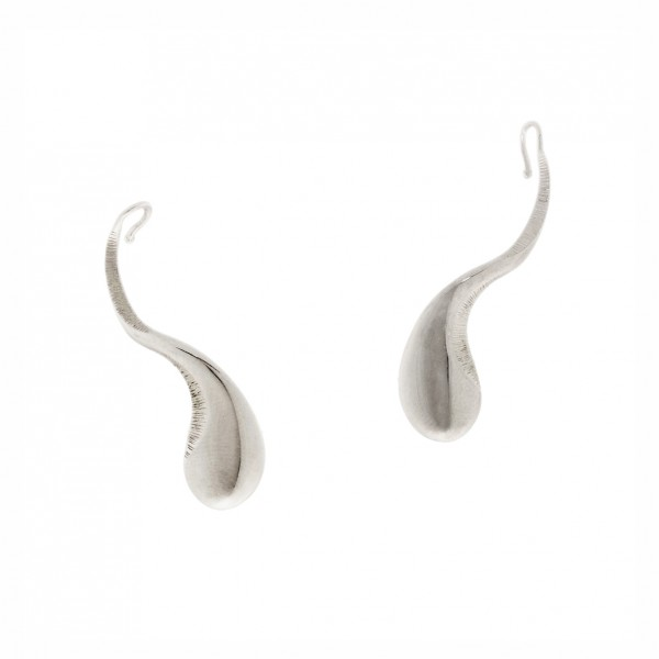 Σκουλαρίκια ασήμι 925 επιπλατινωμένα GRE-60737