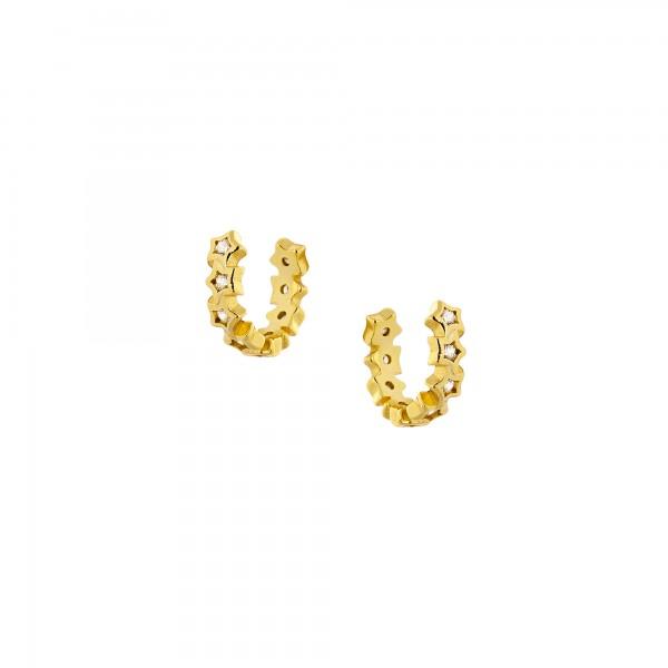 Ear cuff μονό ασήμι 925 επιχρυσωμένο με ζιργκόν PS/8TA-SC029-3