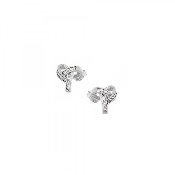 Σκουλαρίκια καρφωτά ασήμι 925 επιπλατινωμένα με ζιργκόν PS/8TA-SC042-1