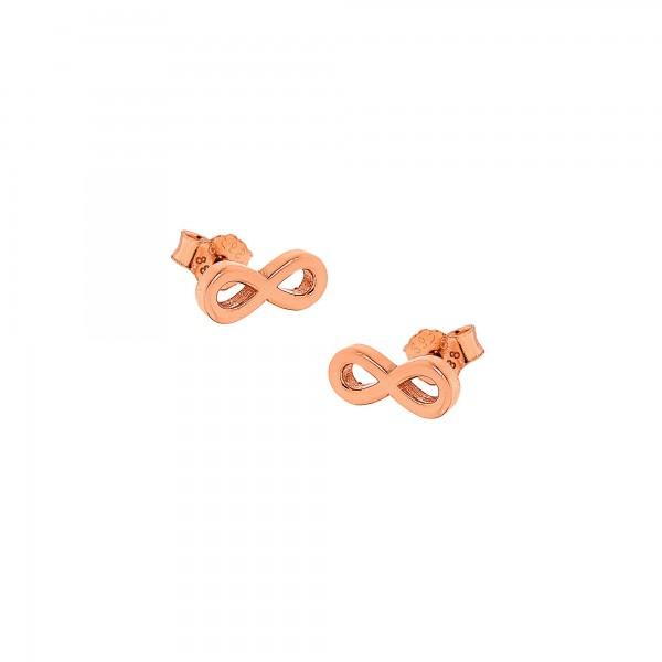 Σκουλαρίκια άπειρο από ασήμι 925° PS/9A-SC055