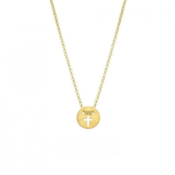 Χειροποίητος σταυρός από χρυσό K14 KRI-S62