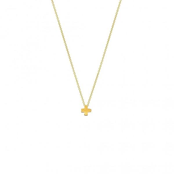Χειροποίητος σταυρός από χρυσό K14 KRI-S13