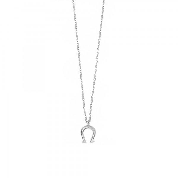 Κολιέ πέταλο από ασήμι 925 GRE-44470