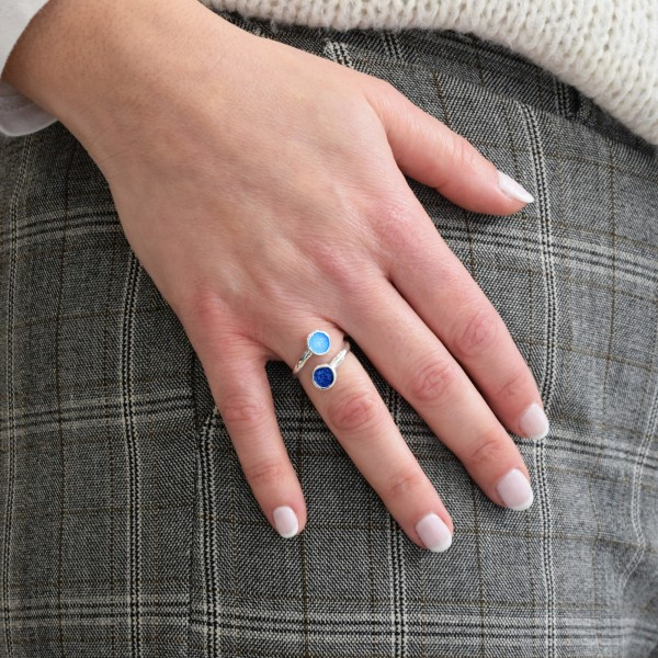 Χειροποίητο δαχτυλίδι ασήμι 950 με σμάλτο KON-8E8