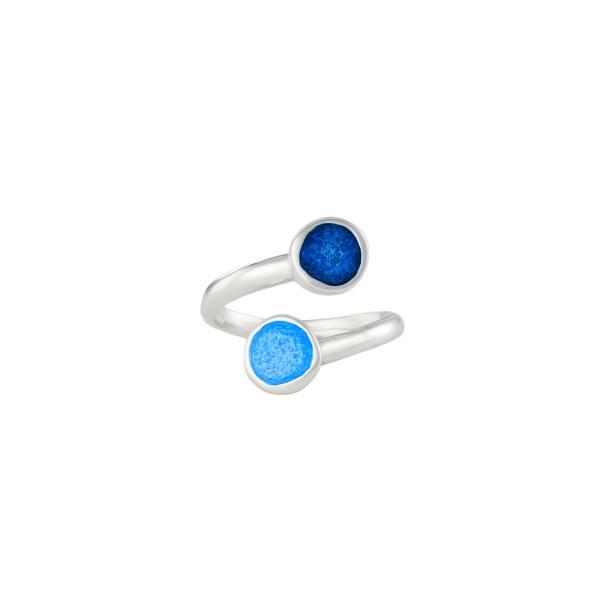 Handmade ring in silver 950 with enamel KON-8E8