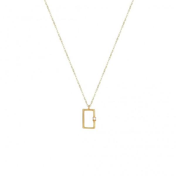 Χειροποίητο Μενταγιόν Χρυσό Κ14 με ζιργκόν KRI-E281