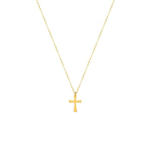Χειροποίητος σταυρός από χρυσό K14 KRI-S24