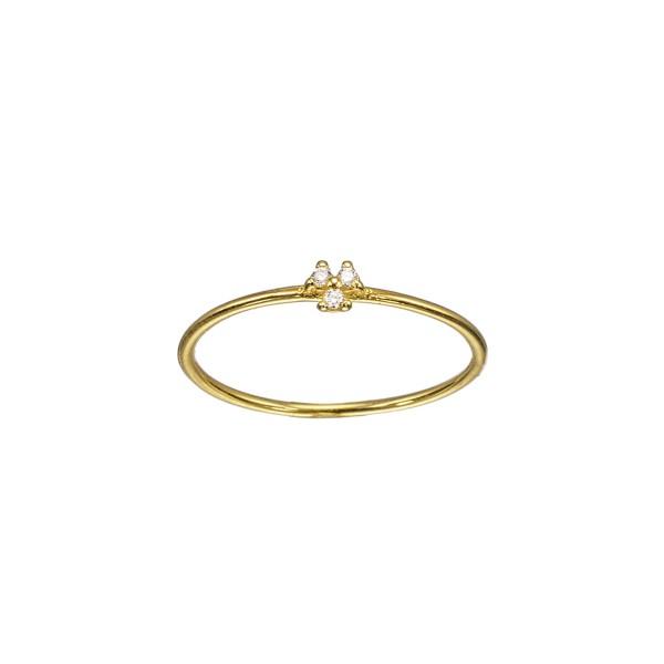 Χειροποίητο Δαχτυλίδι Χρυσό Κ14 με Ζιργκόν KRI-D/E207