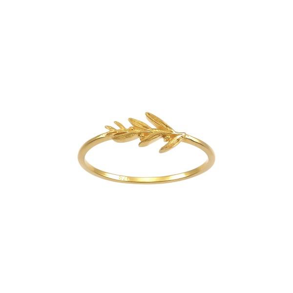 Χειροποίητο Δαχτυλίδι Χρυσό Κ14 Ελιά KRI-D/M63