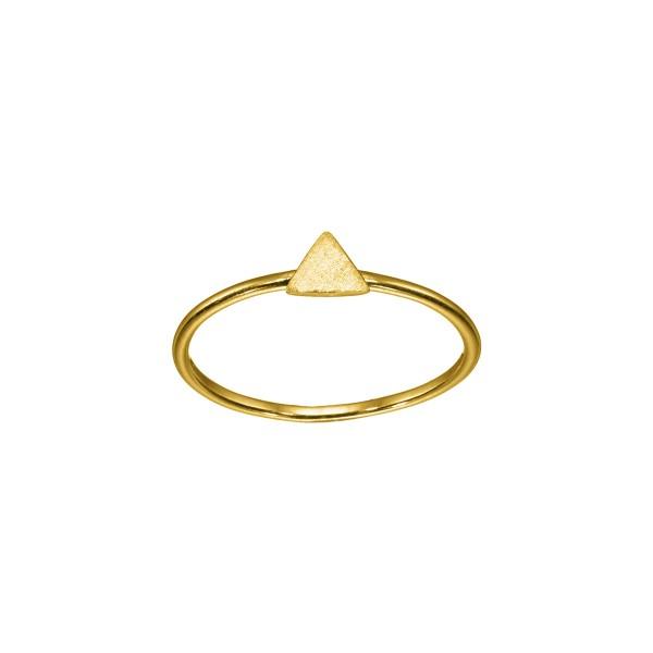 Χειροποίητο χρυσό δαχτυλίδι Κ14 τρίγωνο KRI-D/E171