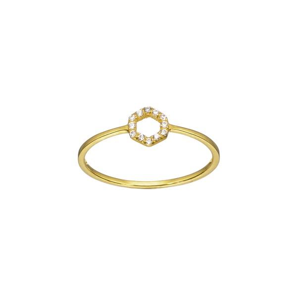 Χειροποίητο Δαχτυλίδι Χρυσό Κ14 KRI-D/E183