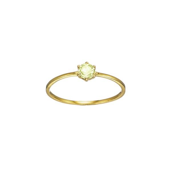 Χειροποίητο Δαχτυλίδι Χρυσό Κ14 με ορυκτή πέτρα KRI-D/E199(PE)