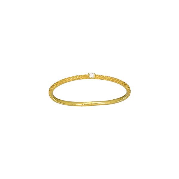 Χειροποίητο Δαχτυλίδι Χρυσό Κ14 με λευκό ζιργκόν KRI-D/E247