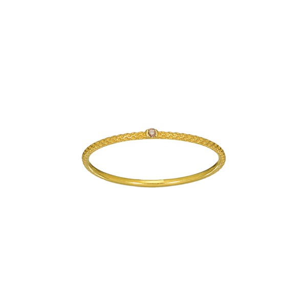 Χειροποίητο Δαχτυλίδι Χρυσό Κ14 με καφέ ζιργκόν KRI-D/E247(B)
