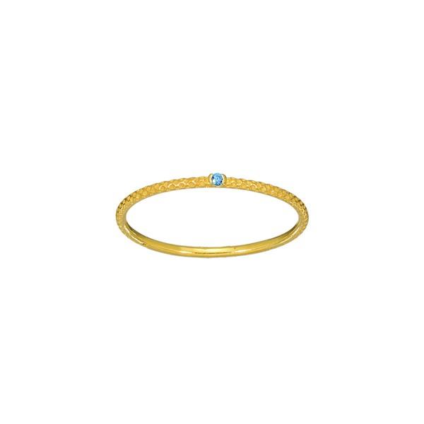 Χειροποίητο Δαχτυλίδι Χρυσό Κ14 με γαλάζιο ζιργκόν KRI-D/E247(BS)