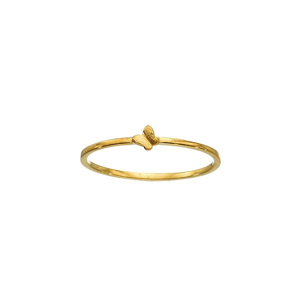 Χειροποίητο Δαχτυλίδι πεταλούδα Χρυσό Κ14 KRI-D/P17