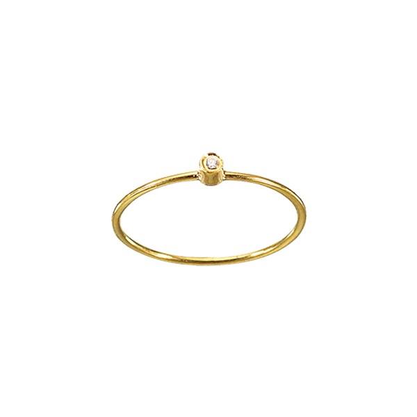 Χειροποίητο Δαχτυλίδι Χρυσό Κ14 με Ζιργκόν KRI-D/E71