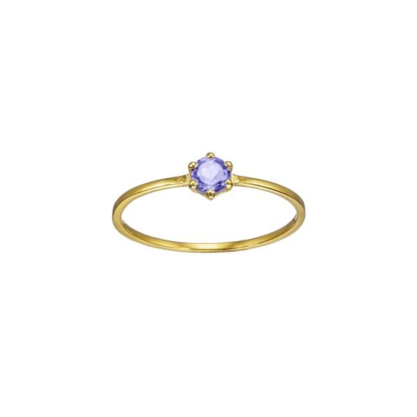 Handmade Ring 14K Yellow Gold with gemstone KRI-D/E199(I)