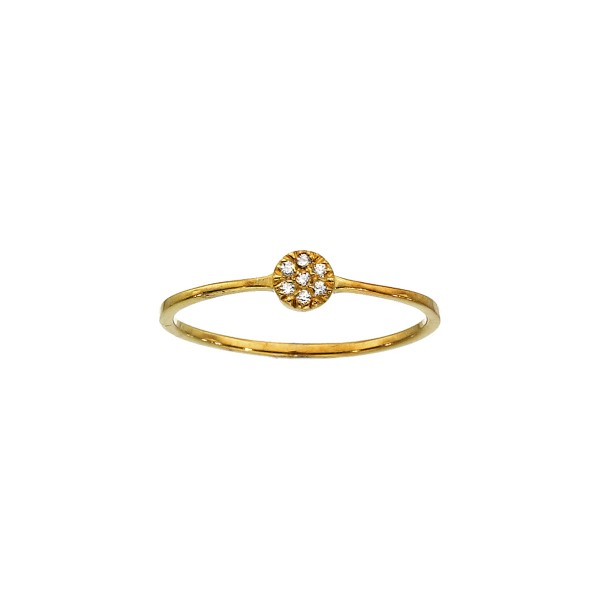 Χειροποίητο Δαχτυλίδι Χρυσό Κ14 με Ζιργκόν KRI-D/E89(W)