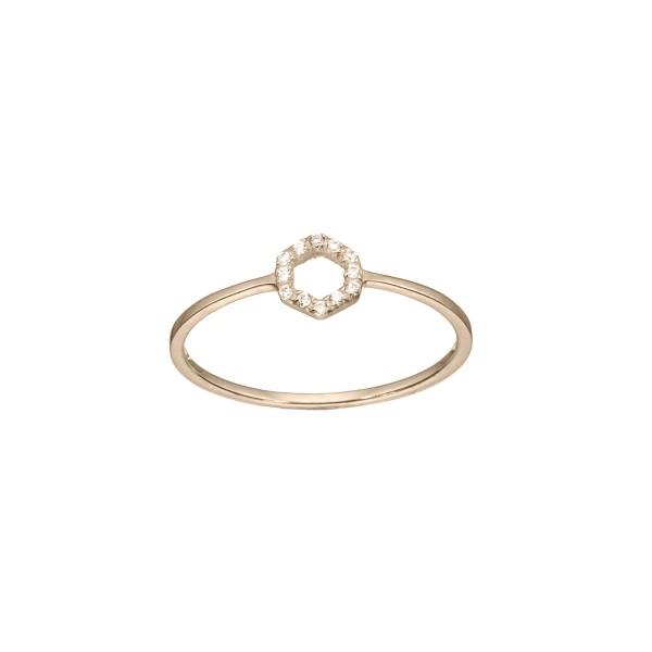Χειροποίητο Λευκόχρυσο Δαχτυλίδι Κ14 με Ζιργκόν KRI-D/E183-WT