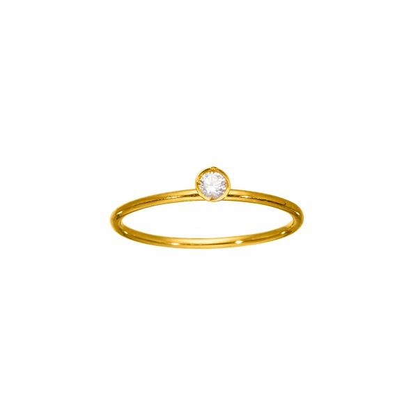 Χειροποίητο Δαχτυλίδι Χρυσό Κ14 με Ζιργκόν KRI-D/E115