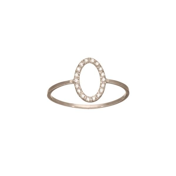 Χειροποίητο Λευκόχρυσο Δαχτυλίδι Κ14 με ΖιργκόνKRI-D/E85-WT