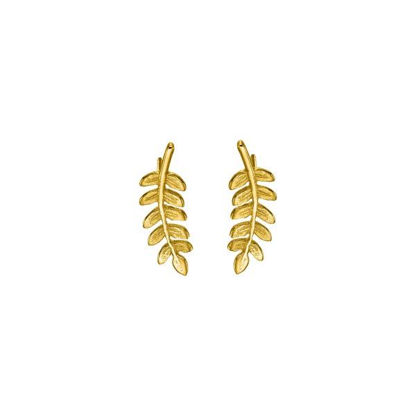 Handmade leaf Earrings 14K Gold KRI-S/M51